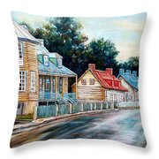 Ile D'orleans Quebec Street Scene Throw Pillow
