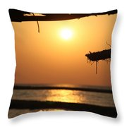 i'll calm down now I am here Throw Pillow