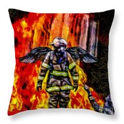 I'll Carry Your Load Brother - Oil Throw Pillow