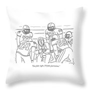 I'll Fake Patriotism Throw Pillow