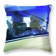 Illegal Aliens Entering The Us From Mexico 2 Throw Pillow