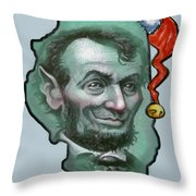 Illinois Christmas Throw Pillow