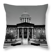 Illinois Old State Capital Building Throw Pillow