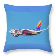 Illinois One Departing Dca Throw Pillow