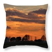 Illinois Sunset Strip IIi Throw Pillow