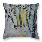 Illuminated Wilderness Throw Pillow