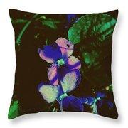 Illuminated Wildflowers Throw Pillow