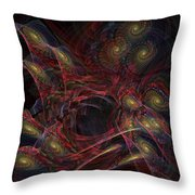 Illusion And Chance - Fractal Art Throw Pillow