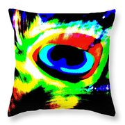 Illusion Of Colors Throw Pillow