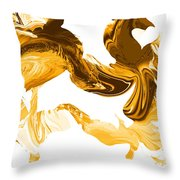 Illusions In Gold Throw Pillow