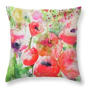Illusions Of Poppies Throw Pillow