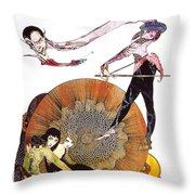 Illustration From Faust  Throw Pillow