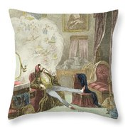 Illustration From Visitation Of A London Exquisite To His Maiden Aunts In The Country Throw Pillow