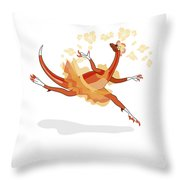 Illustration Of A Ballerina Dancing Throw Pillow