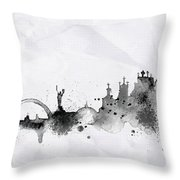 Illustration Of City Skyline - Kiev In Chinese Ink Throw Pillow