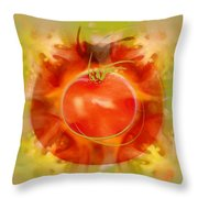 Illustration Of Tomato Throw Pillow