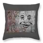 Film Homage Five Thousand Fingers Of Dr. T 1953  Alfred E. Newman Wall Casa Grande Arizona 2004 Throw Pillow