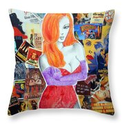 I'm Just Drawn That Way --v.2 -- Jessica Rabbit Portrait Throw Pillow