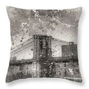 Im Selling The Brooklyn Bridge Or At Least A Photo Of It  Throw Pillow