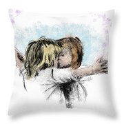 I'm So Glad To See You Throw Pillow