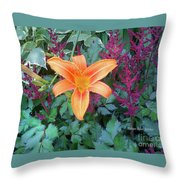 Image Included In Queen The Novel - Late Summer Blooming In Vermont 23of74 Enhanced Throw Pillow