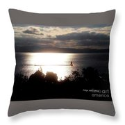 Image Included In Queen The Novel - Lighthouse Contrast Throw Pillow
