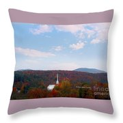 Image Included In Queen The Novel - New England Church Enhanced Throw Pillow