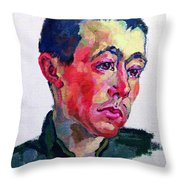 Image Of A Soldier Throw Pillow