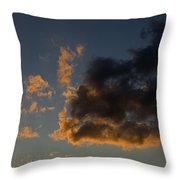 Image Of Clouds At Sunset Throw Pillow