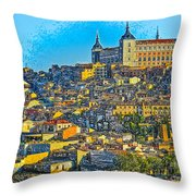 Image Of Portugal From The Road Throw Pillow