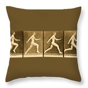 Image Sequence From Animal Locomotion Series Throw Pillow