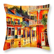 Images Of The French Quarter Throw Pillow