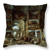 Imaginary Gallery Of Views Of Ancient Rome Throw Pillow