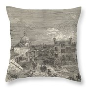 Imaginary View Of Venice Throw Pillow