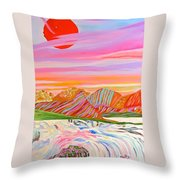 My Imagination Of China's Vast Rainbow Mountains Throw Pillow