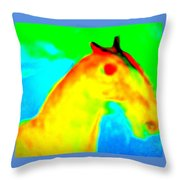 Imagine All The People And All The Horses  Throw Pillow