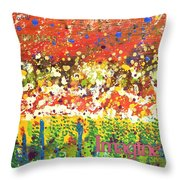 Imagine Happiness Throw Pillow