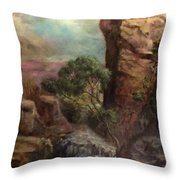 Imagined Landscape Throw Pillow