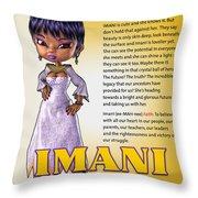Imani, The Visionary Throw Pillow