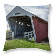 Imes Covered Bridge 2 Throw Pillow