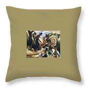 img611 Thomas Hart Benton Throw Pillow