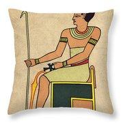 Imhotep, Egyptian Polymath Throw Pillow