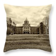 Immaculata University In Black And White Throw Pillow