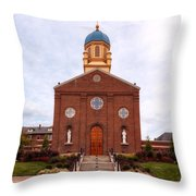 Immaculate Conception Chapel - University Of Dayton Throw Pillow