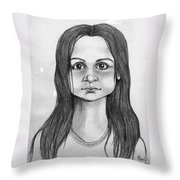 Immigrant Girl Throw Pillow