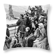 Immigrant Ship Throw Pillow