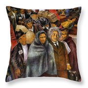 Immigrants, Nyc, 1937-38 Throw Pillow