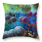 Immune Response Antibody 4 Throw Pillow