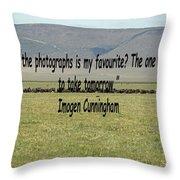 Imogen Cunningham Quote Throw Pillow