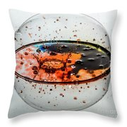 Impact On The Sphere Throw Pillow